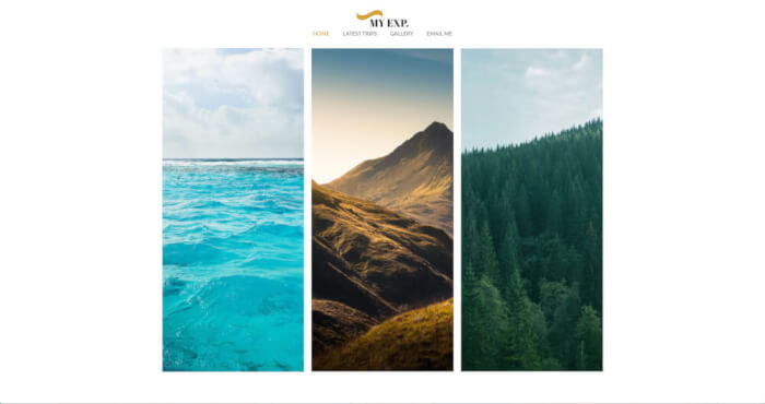 Share your experience with the world with this travel website template
